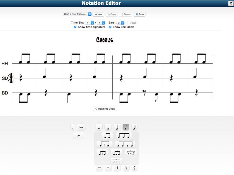 Drum Chart Builder